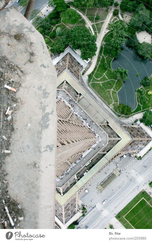 La Tour Stadt Ferien & Urlaub & Reisen Architektur Europa Turm Bauwerk Paris Wahrzeichen Frankreich Hauptstadt Sehenswürdigkeit abwärts Bekanntheit