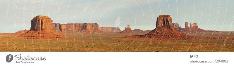 Monument Valley Natur Ferien & Urlaub & Reisen Ferne Freiheit Landschaft Erde orange USA Wüste Amerika Wahrzeichen Sehenswürdigkeit Steppe Bekanntheit