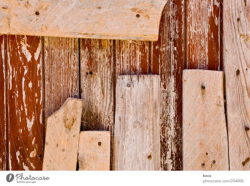 Bretter alt Holz braun kaputt Holzbrett Reparatur Rest Holzwand Detailaufnahme Bretterzaun Altholz