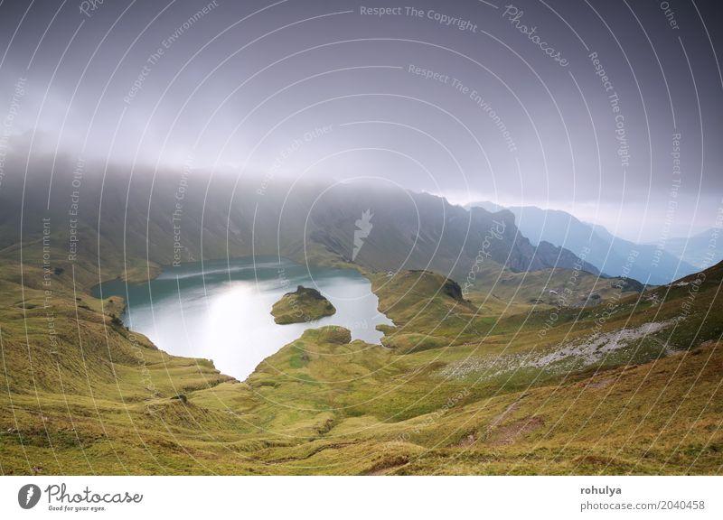 Wolken über alpinen See Schrecksee in Bergen Ferien & Urlaub & Reisen Insel Berge u. Gebirge Natur Landschaft Himmel Gewitterwolken Sommer Wetter