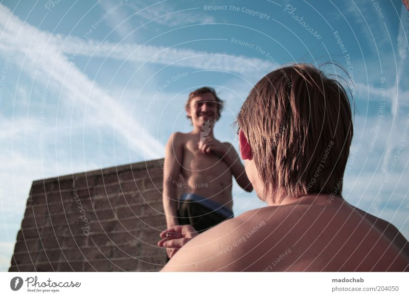 hans & franz Mensch Mann Jugendliche Sommer Freude ruhig Erwachsene Erholung Leben Freiheit sprechen Kopf Haare & Frisuren Glück Freundschaft Zufriedenheit