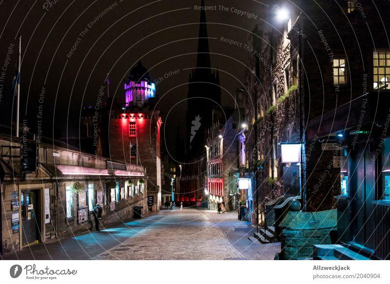 The Royal Mile 2 Ferien & Urlaub & Reisen Tourismus Städtereise Nachtleben Edinburgh Schottland Hauptstadt Stadtzentrum Altstadt Haus Gebäude Architektur