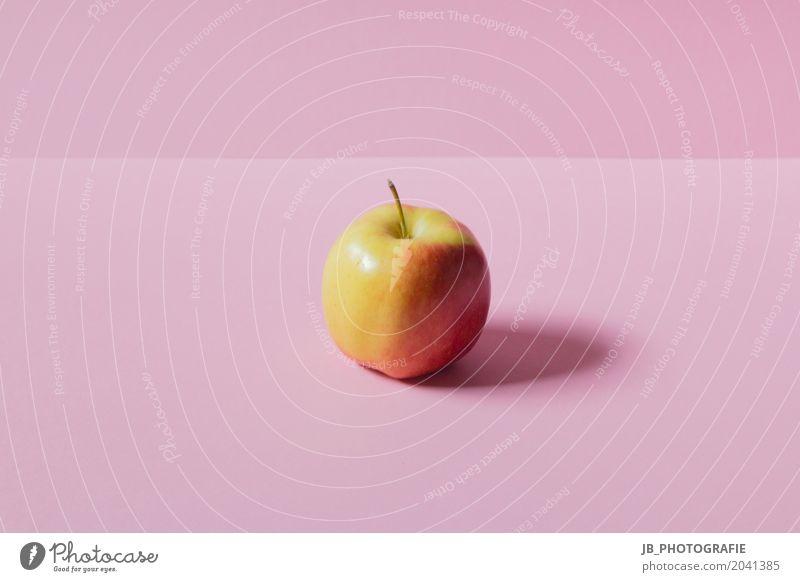 Gesunde Ernährung - Apfelgenuss rot Essen gelb Gesundheit Kunst Lebensmittel rosa Frucht Zufriedenheit glänzend frisch authentisch Lebensfreude rund