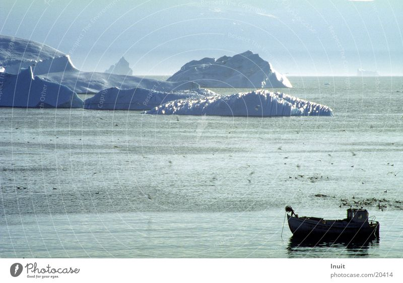 Eisberg 01 Meer kalt Eis Wasserfahrzeug Grönland