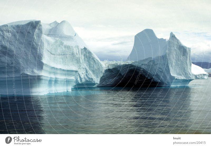 Eisberg 03 Meer blau kalt Eis Grönland