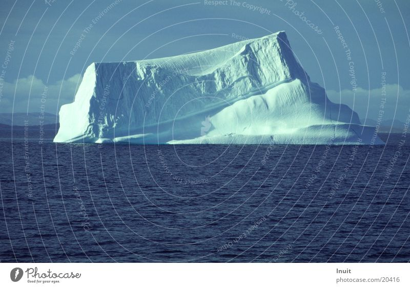 Eisberg 02 Meer blau kalt Grönland
