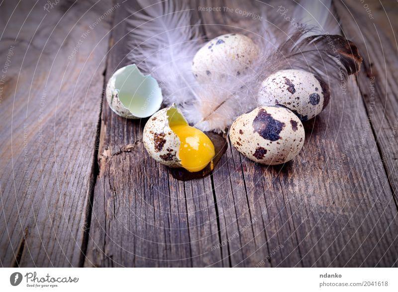 Essen natürlich Holz klein grau braun oben frisch Tisch Ostern Bauernhof Frühstück Tradition Diät Konsistenz rustikal