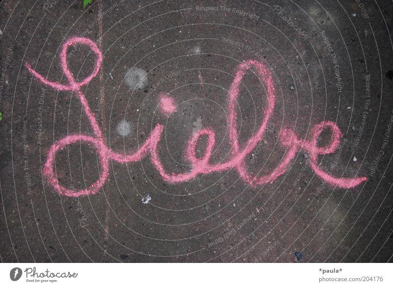 Liebe schön Liebe Straße grau Glück Kunst rosa natürlich ästhetisch Fröhlichkeit Schriftzeichen einzigartig einfach Freundlichkeit Lebensfreude Kreide