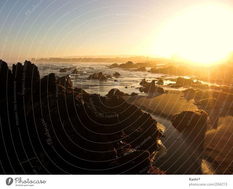 Pichilemu Ferien & Urlaub & Reisen Sommer Sommerurlaub Sonne Strand Meer Natur Landschaft Sand Wasser Wolkenloser Himmel Sonnenaufgang Sonnenuntergang Wärme