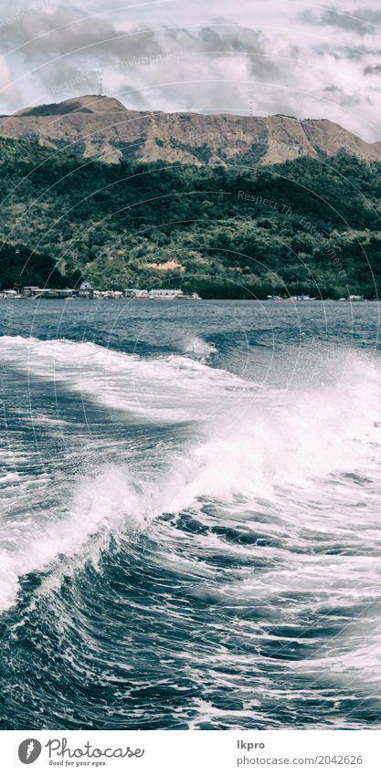Blick vom Boot und dem pazifischen Ozean Berg Hintergrund Himmel Natur Ferien & Urlaub & Reisen blau Sommer schön weiß Landschaft Meer Wolken Freude Strand