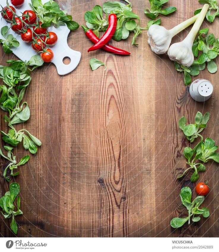 Gesunde Lebensmittel Hintergrund Foodfotografie Essen Hintergrundbild Gesundheit Stil Design Textfreiraum Ernährung Tisch Kräuter & Gewürze Küche Gemüse