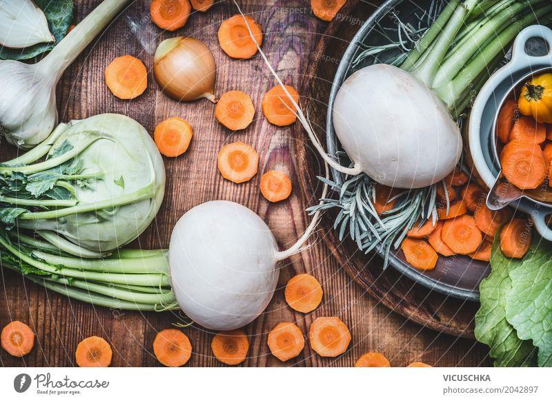 Saisonales Bio Gemüse für gesundes Essen und Kochen Lebensmittel Ernährung Bioprodukte Vegetarische Ernährung Diät Stil Design Gesundheit Gesunde Ernährung