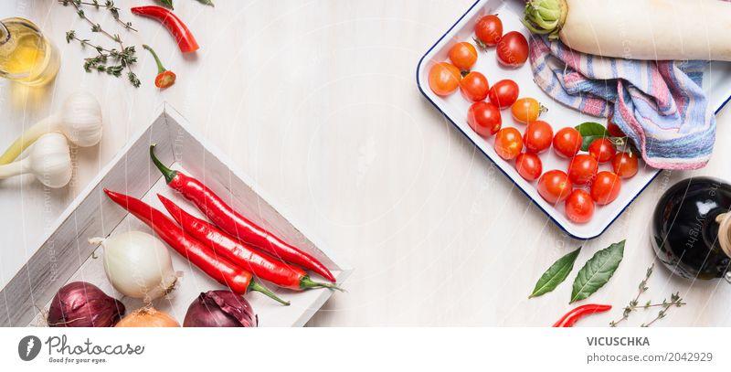 Gesundes Essen , vegetarische Küche Gesunde Ernährung weiß Speise Foodfotografie Leben Gesundheit Stil Lebensmittel Design Tisch Kräuter & Gewürze Gemüse Fahne