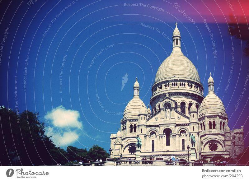 Zurückkehren.unbedingt Himmel blau Ferien & Urlaub & Reisen Ferne Ausflug Kirche Ziel Kultur Paris Schönes Wetter Fernweh Sehenswürdigkeit Städtereise Sacré-Coeur