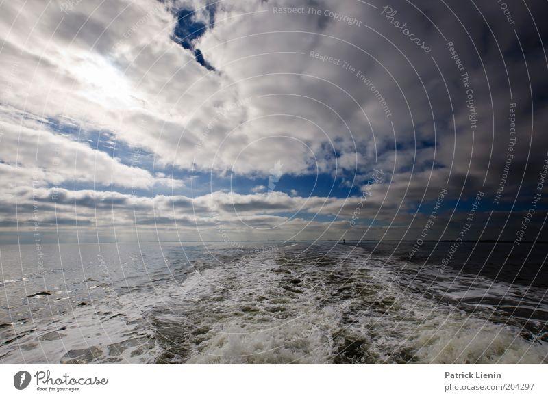 Take you on a cruise Umwelt Natur Landschaft Urelemente Luft Wasser Himmel Wolken Sommer Klima Wetter Schönes Wetter Wind Wellen Nordsee Meer fahren Wellengang