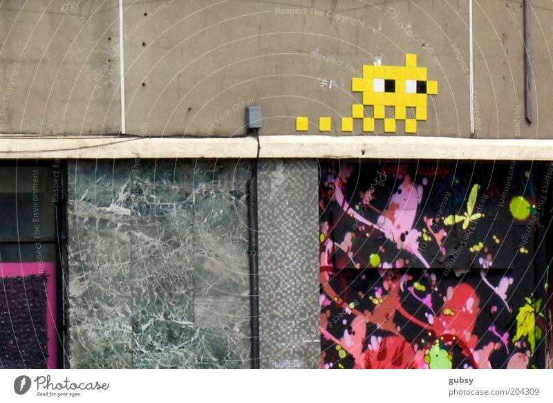 Graffiti retro Stein Nostalgie Straßenkunst Marmor mehrfarbig Subkultur Stromdraht