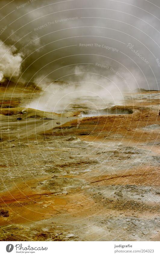 Island Natur Wasser Himmel Wolken dunkel Wärme Landschaft Stimmung Kraft Umwelt bedrohlich einzigartig heiß natürlich außergewöhnlich Island