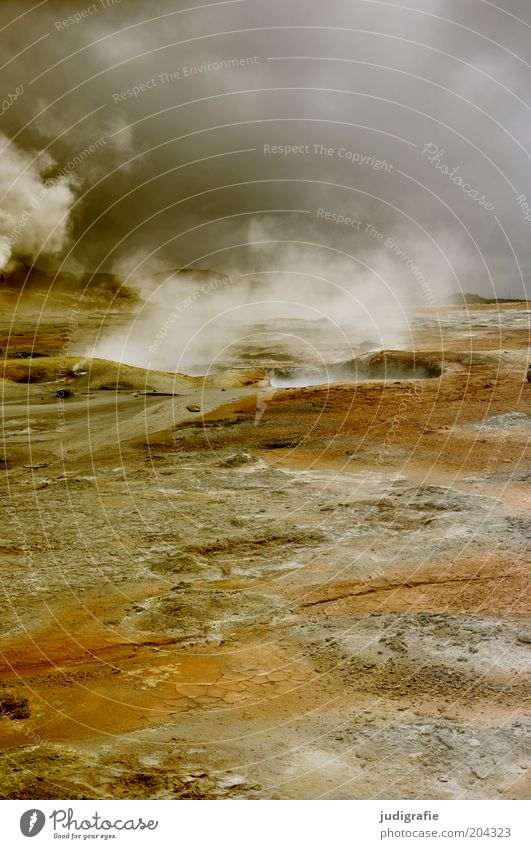 Island Umwelt Natur Landschaft Urelemente Wasser Himmel Vulkan außergewöhnlich bedrohlich dunkel heiß natürlich Wärme Stimmung einzigartig Kraft Gas Schwefel