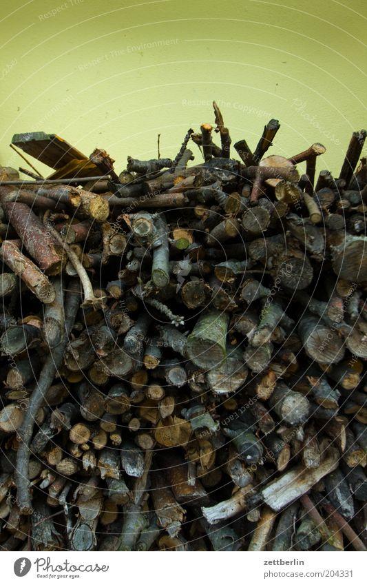 Brennholz Holz heizen Heizperiode Vorrat Stapel Energie Menschenleer Sammlung Ast Lager