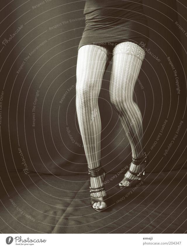 take me drunk I'm home Mensch Jugendliche schwarz feminin Erotik Stil Beine laufen Bekleidung Strümpfe Alkoholisiert Strumpfhose rebellisch Damenschuhe ausgehen Minikleid