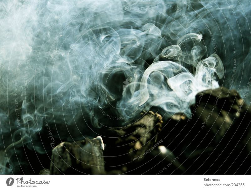 Räucherweibchen Holz Feuer Rauch Licht Feuerstelle Holzkohle Brandgefahr