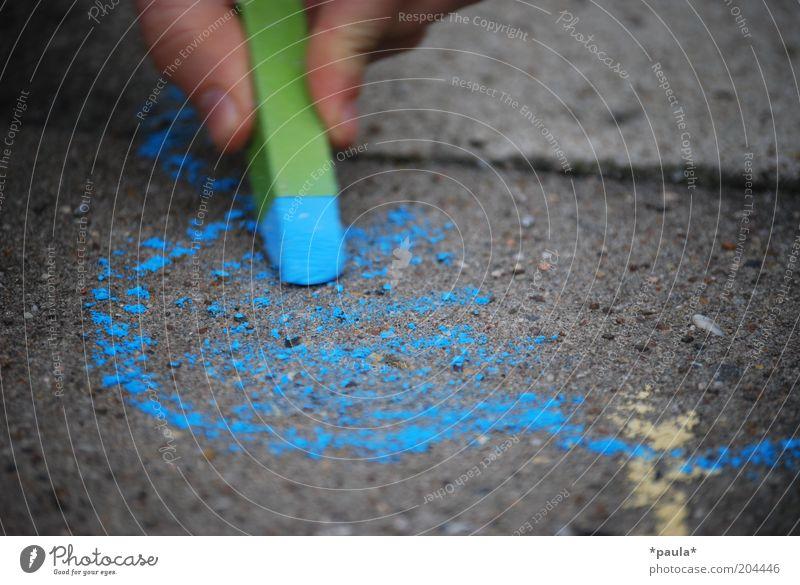 Himmelblau grün schön ruhig Farbe Straße grau träumen Kunst Kindheit Zufriedenheit natürlich Finger einzigartig Vergänglichkeit einfach
