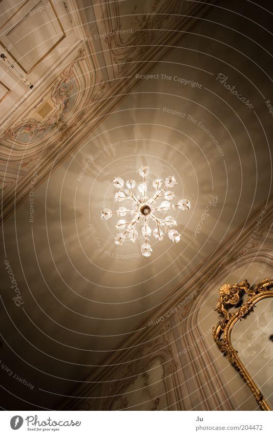 Verstrahlt Lampe Architektur elegant gold Raum Dekoration & Verzierung Kultur Spiegel Innenarchitektur Burg oder Schloss leuchten Reichtum Theater historisch