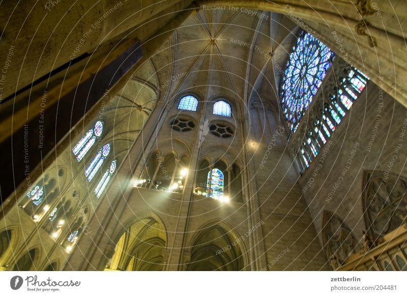 Pfingsten Fenster Religion & Glaube Architektur Kirche Innenarchitektur Paris Frankreich historisch aufwärts Dom Ornament Gotik Kathedrale Kuppeldach monumental