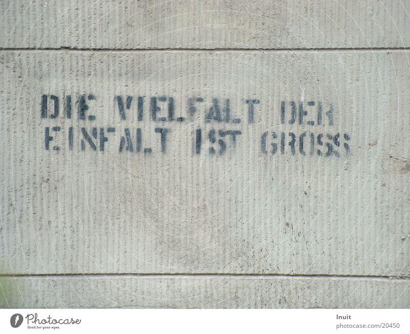 Einfalt Graffiti Meinung Vielfältig Redewendung Schablone