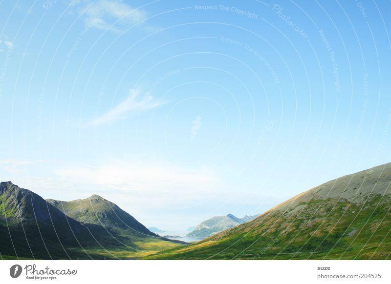 Tal der Ahnungslosen Himmel Natur grün Ferien & Urlaub & Reisen Einsamkeit Ferne Freiheit Berge u. Gebirge Landschaft Umwelt Erde Ausflug Felsen Tourismus