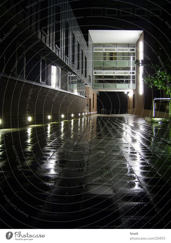 Reflexion Nacht Reflexion & Spiegelung Architektur Regen Glas Beleuchtung