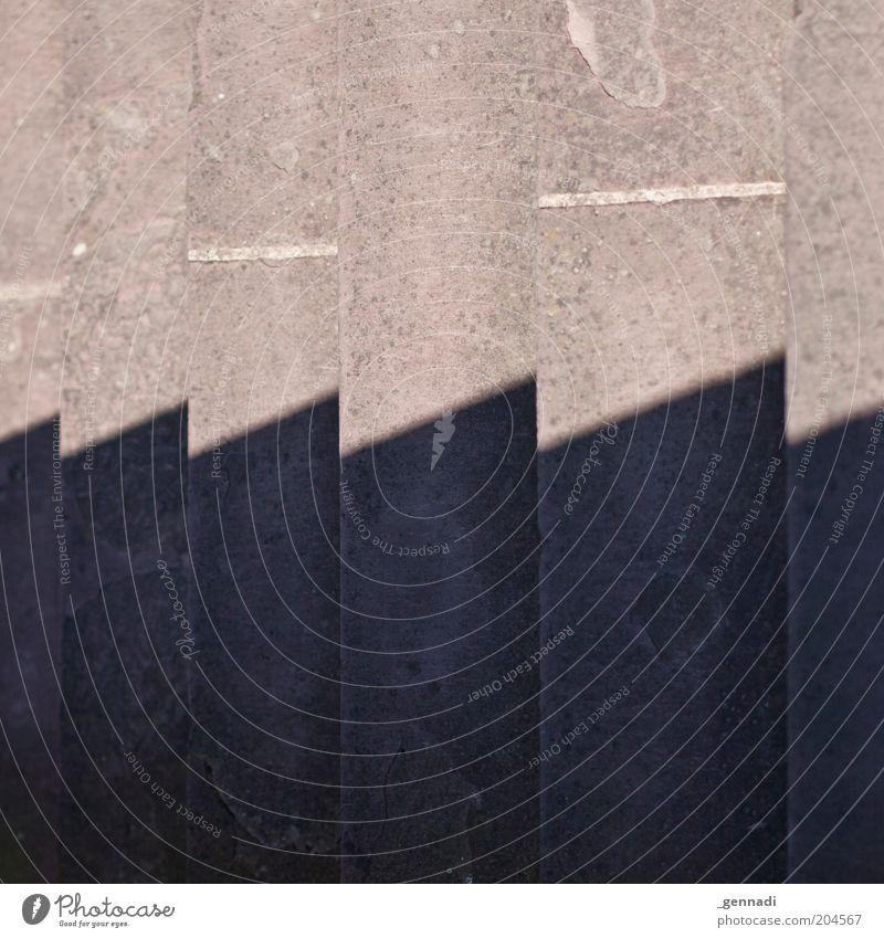 Treppe 3D hoch Täuschung Treppenabsatz Zacken Zickzack Schlagschatten Steintreppe