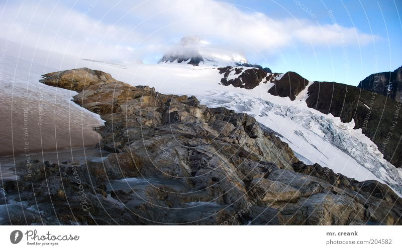 Mein Berg (I) Natur Ferien & Urlaub & Reisen Berge u. Gebirge Landschaft Erde Freizeit & Hobby Nebel Alpen Gletscher Felsen Naturgewalt Nebelschleier