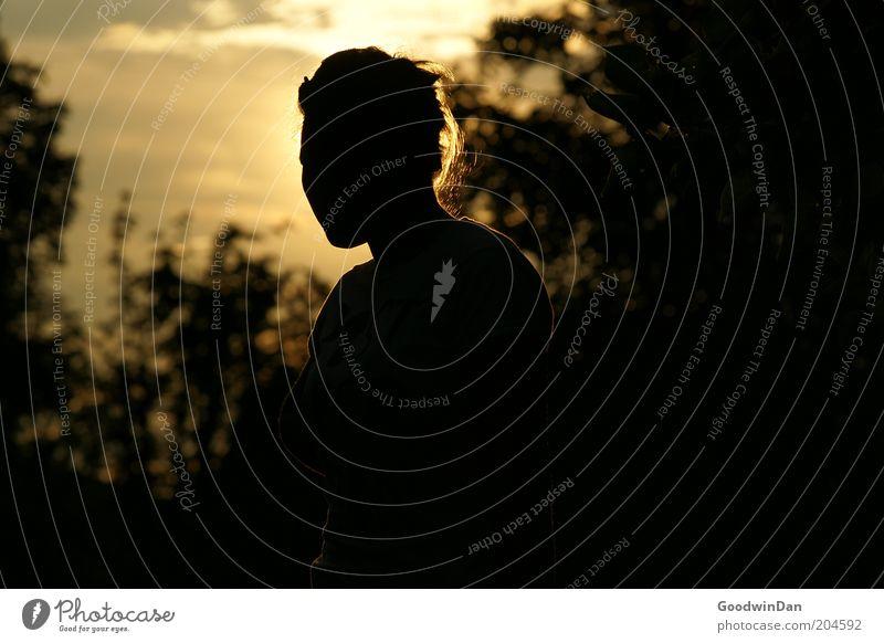 der Sonne trotzen II Mensch Natur Jugendliche schön ruhig dunkel feminin Gefühle Wärme Zufriedenheit Stimmung warten Wetter Umwelt außergewöhnlich Gelassenheit