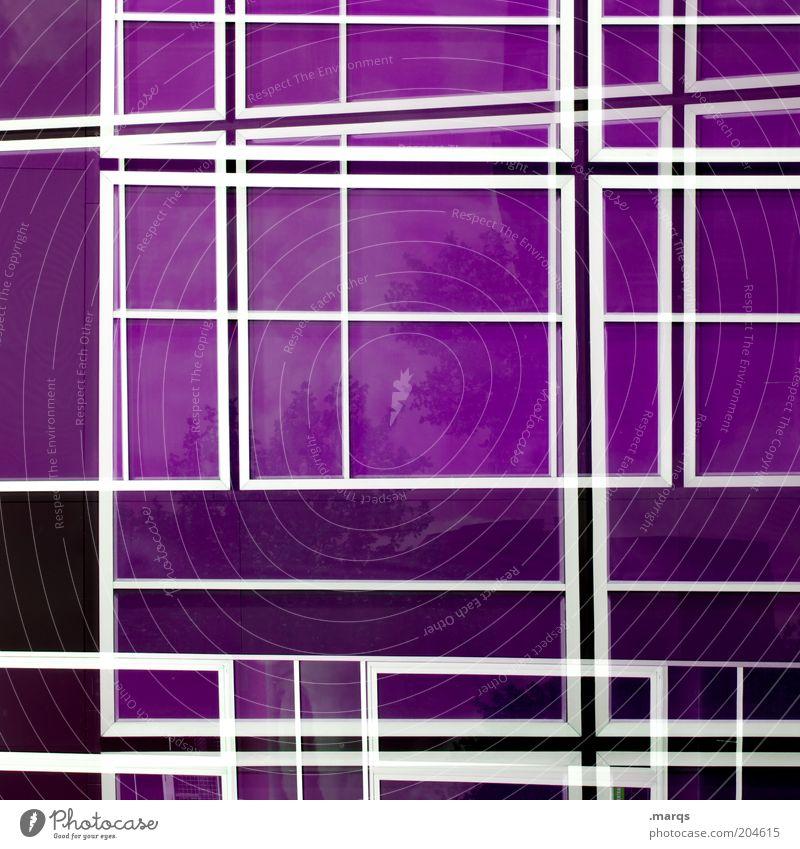 Labyrinth Design Linie außergewöhnlich verrückt violett chaotisch Farbe Hintergrundbild durcheinander Vexierbild Fassadenverkleidung Glasfassade