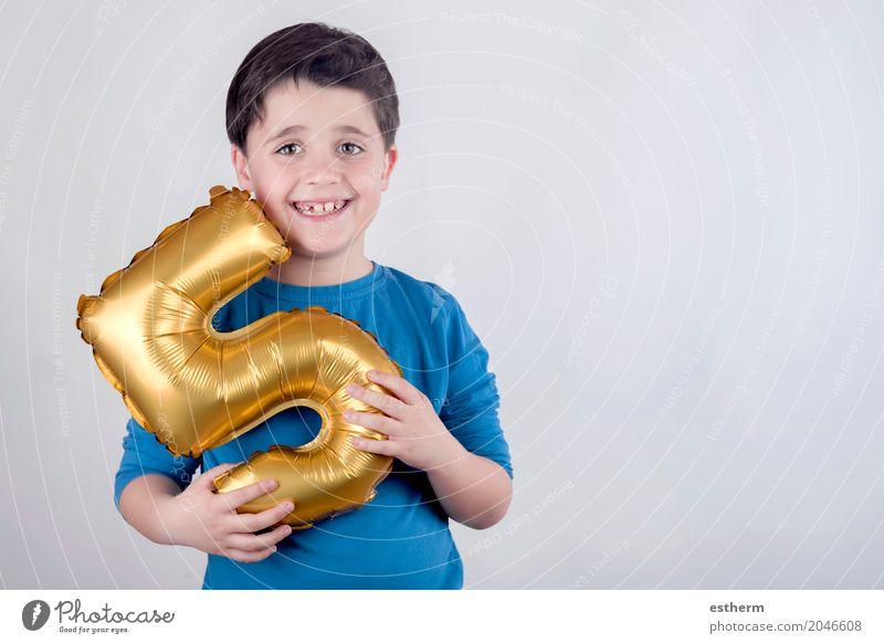 Lächelnder Geburtstags-Junge Lifestyle Freude Feste & Feiern Mensch Kind Kleinkind Kindheit 1 3-8 Jahre Freundlichkeit Fröhlichkeit Glück Gefühle Lebensfreude