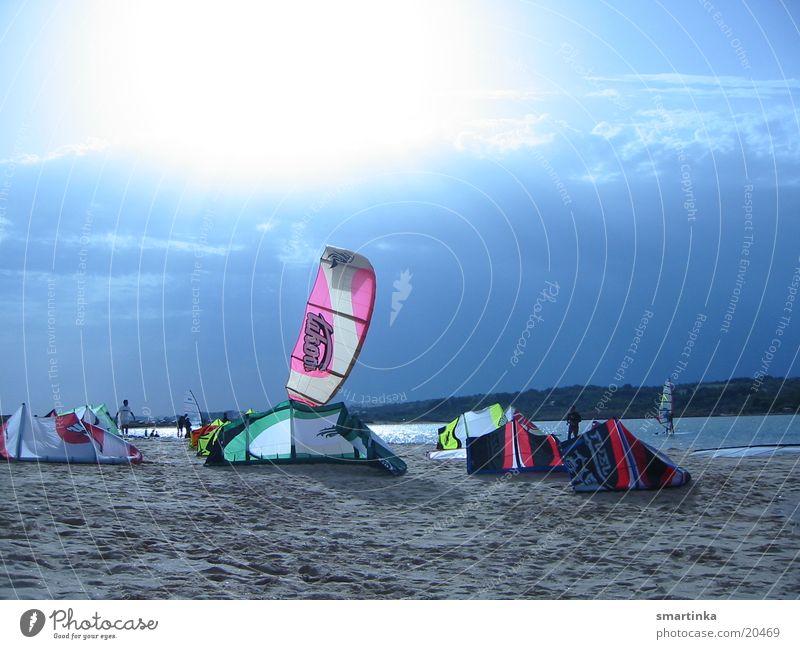 Kitecity Wasser Meer Raum fliegen Zeit frei genießen Portugal Wassersport Kiting loslassen Extremsport