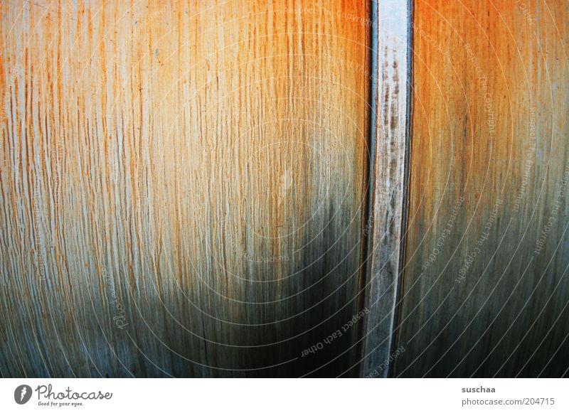 alte liebe rostet nicht .. Linie Metall rund Wandel & Veränderung Vergänglichkeit Streifen Stahl Verfall trashig Rost Tank verwittert Oxidation Zahn der Zeit Eisenoxid
