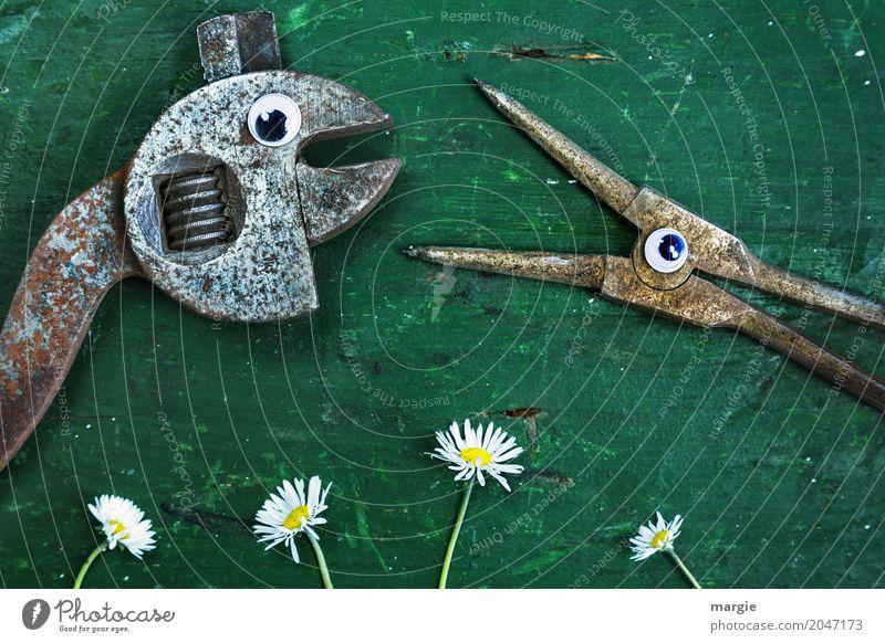 Dank Photocase das hier: Zange und Schraubenschlüssel mit Augen Arbeit & Erwerbstätigkeit Beruf Gartenarbeit Arbeitsplatz Baustelle Dienstleistungsgewerbe