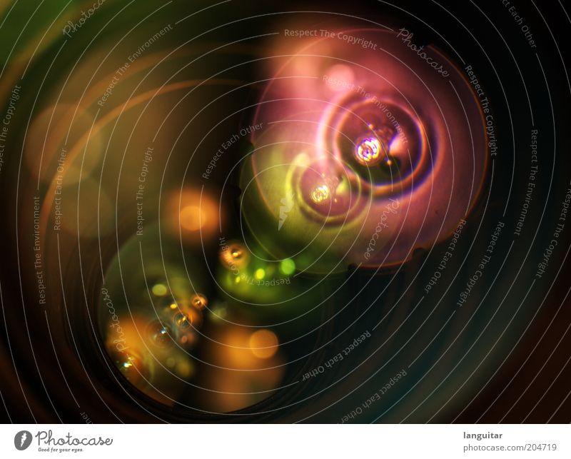 Lens Flare grün rot schwarz gelb Farbe Kunst glänzend rosa Glas Design gold ästhetisch violett Fotokamera fantastisch leuchten