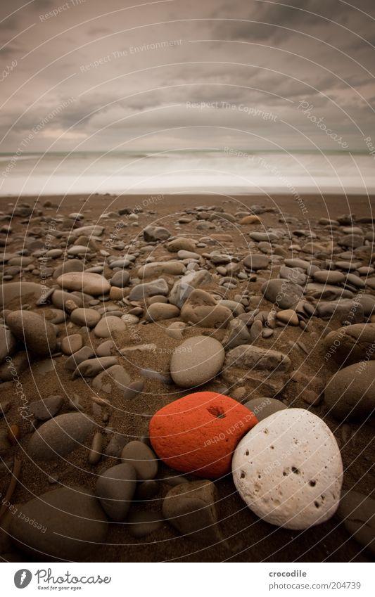 New Zealand 72 Natur Wasser schön Himmel weiß rot Strand Wolken dunkel Stein Sand Landschaft Küste Umwelt Horizont Erde