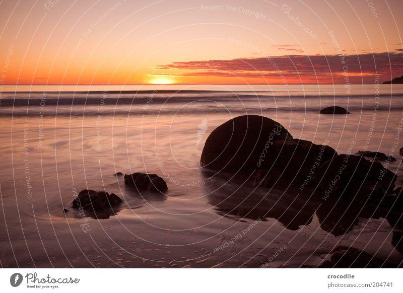 New Zealand 73 Umwelt Natur Landschaft Urelemente Erde Wolken Horizont Sonne Sonnenaufgang Sonnenuntergang Sonnenlicht Schönes Wetter Küste Strand Meer