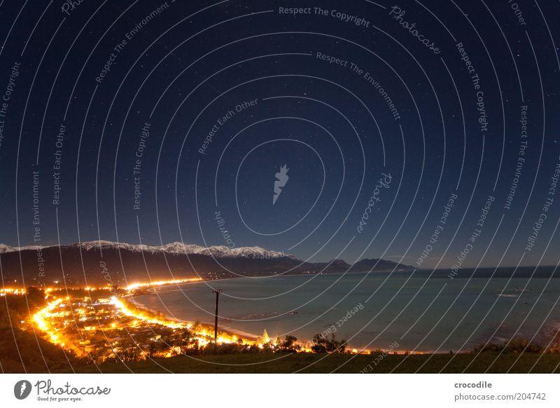 New Zealand 74 Umwelt Natur Landschaft Urelemente Erde Wasser Himmel Nachthimmel Stern Horizont Winter Schönes Wetter Alpen Berge u. Gebirge Gipfel