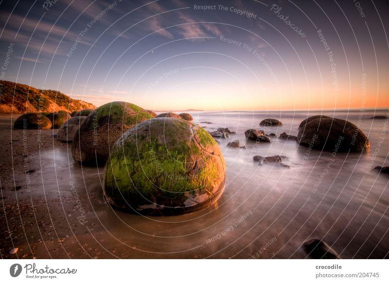 New Zealand 76 Umwelt Natur Landschaft Urelemente Erde Sand Wasser Himmel Sonnenlicht Schönes Wetter Felsen Wellen Küste Strand Meer Insel Neuseeland ästhetisch