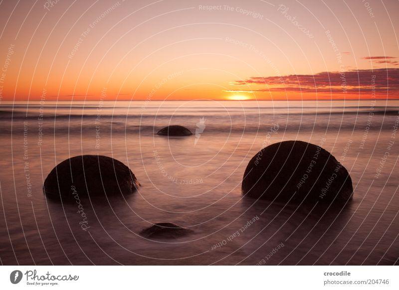 New Zealand 77 Umwelt Natur Landschaft Urelemente Erde Wasser Wolken Sonnenaufgang Sonnenuntergang Schönes Wetter Wellen Küste Strand Meer Insel Neuseeland