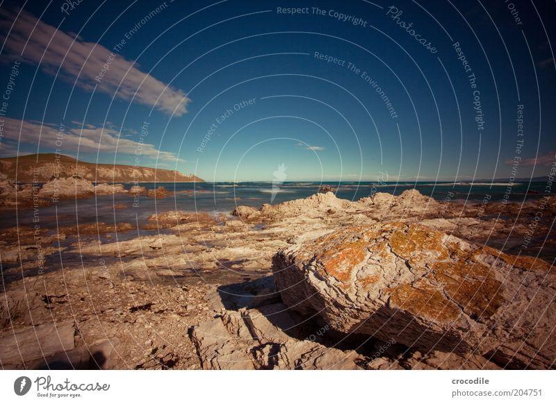 New Zealand 81 Natur Wasser Himmel Meer Strand Ferien & Urlaub & Reisen Wolken Ferne Landschaft Stimmung Erde Küste Umwelt Horizont Felsen Insel
