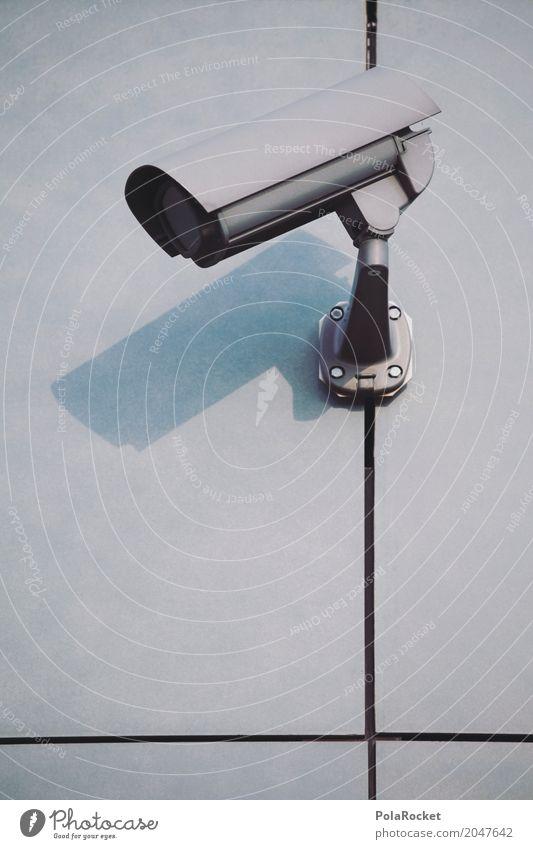 #AS# Überwachung IV Videokamera High-Tech beobachten silber Technik & Technologie Telekommunikation Informationstechnologie Internet Überwachungsgerät