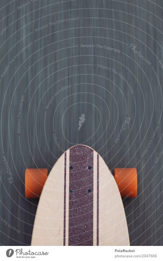 #AS# Longboard on the road 2 Lifestyle Sport Bewegung orange Freizeit & Hobby Coolness Asphalt sportlich Skateboarding Dynamik