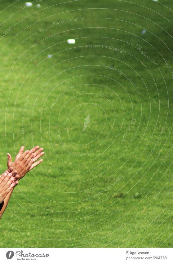 Jogi und Hansi Mensch Hand Sport Fußball Erfolg Hoffnung Rasen Freizeit & Hobby Sportrasen Warmherzigkeit Publikum Applaus Begeisterung Sympathie Fußballplatz