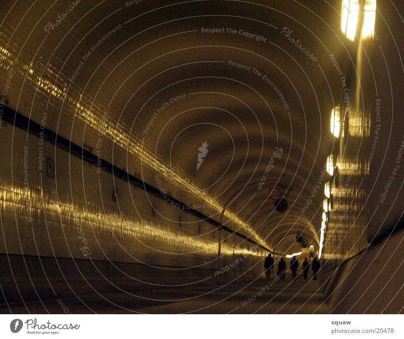 Elbtunnel Mensch Dinge Tunnel Sankt Pauli-Elbtunnel